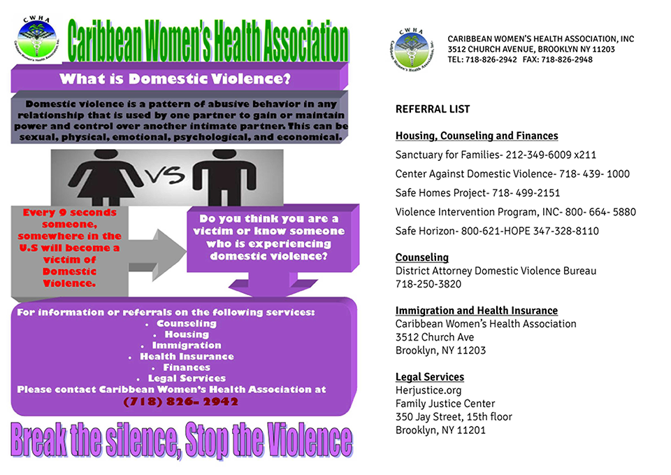 Services - Caribbean Women's Health Association (CWHA
